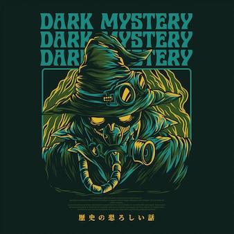Ilustração do mistério escuro