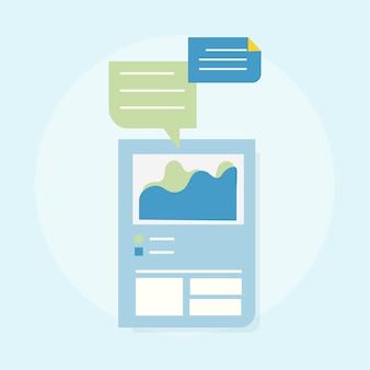 Ilustração do modelo de design da web