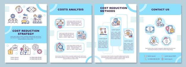 Ilustração do modelo de folheto de estratégia de redução de custos