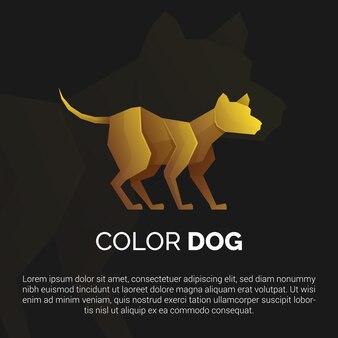 Ilustração do modelo de logotipo de cachorro de ouro