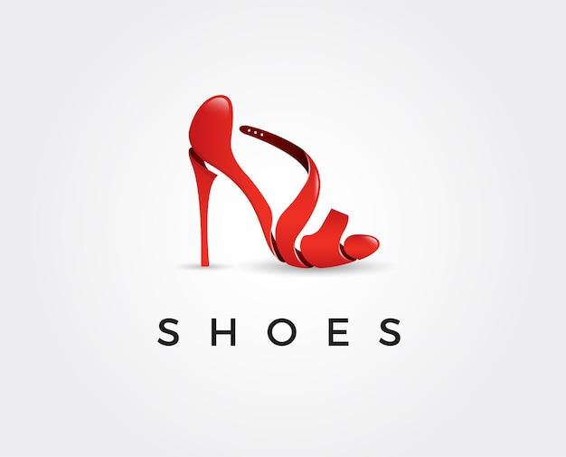 Ilustração do modelo de logotipo de sapatos mínimos
