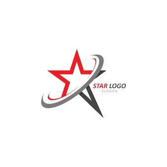 Ilustração do modelo do logotipo da estrela