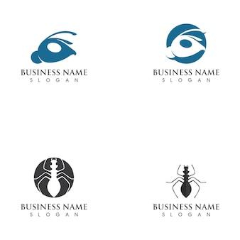 Ilustração do modelo do logotipo da formiga