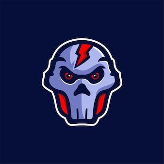Ilustração do modelo do logotipo do desenho da cabeça da máscara logotipo esport do vetor premium para jogos
