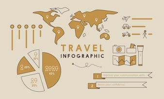 Ilustração do modelo infográfico