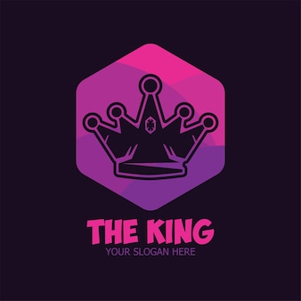 Ilustração do modelo plano logo crown