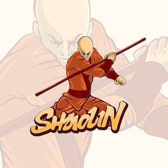 Ilustração do monge mestre