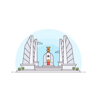 Ilustração do monumento à democracia da tailândia