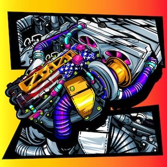 Ilustração do motor