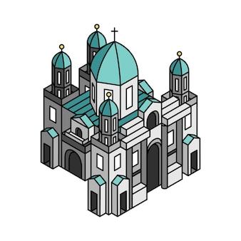 Ilustração do museu de berlim na alemanha