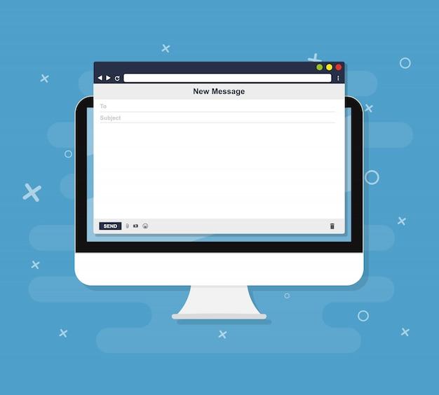 Ilustração do navegador de email