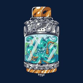 Ilustração do octomizer