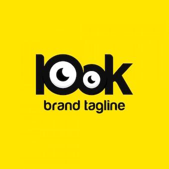 Ilustração do olho vendo logotipo premium