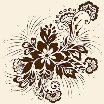 Ilustração do ornamento mehndi