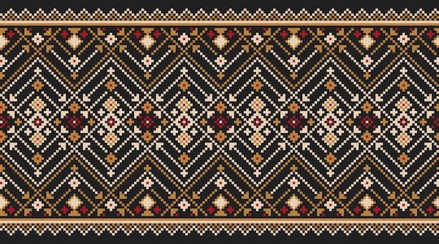 Ilustração do ornamento sem emenda popular ucraniano do teste padrão. ornamento étnico