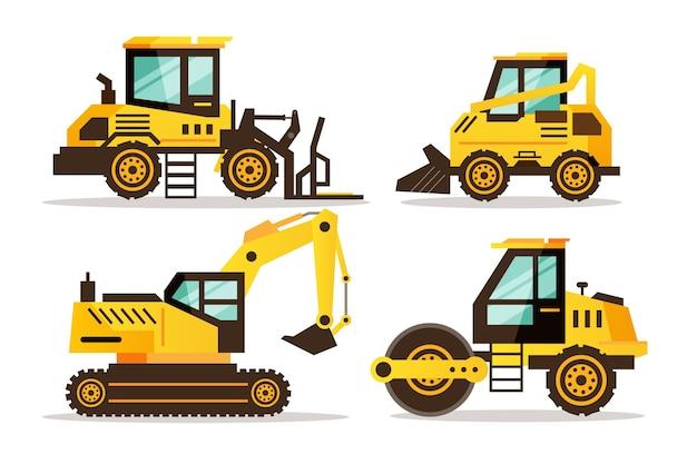 Ilustração do pacote de escavadeira
