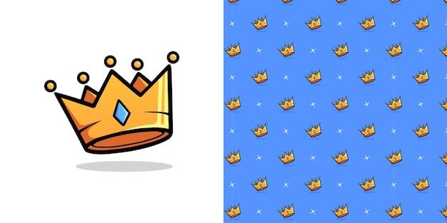 Ilustração do padrão de seamles da coroa