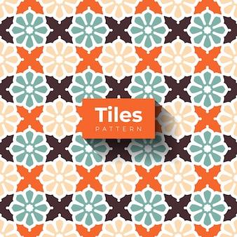 Ilustração do padrão texturizado de azulejos