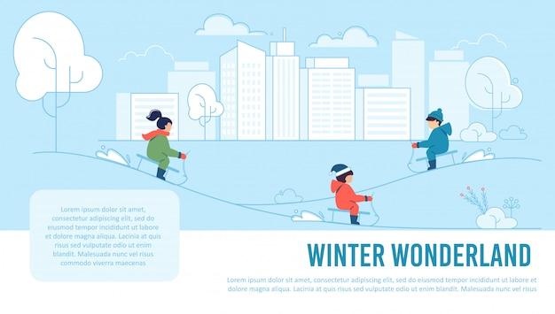 Ilustração do país das maravilhas do inverno