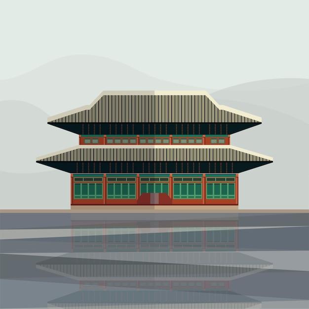 Ilustração do palácio gyeongbokgung