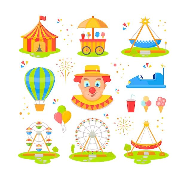 Ilustração do parque de diversões