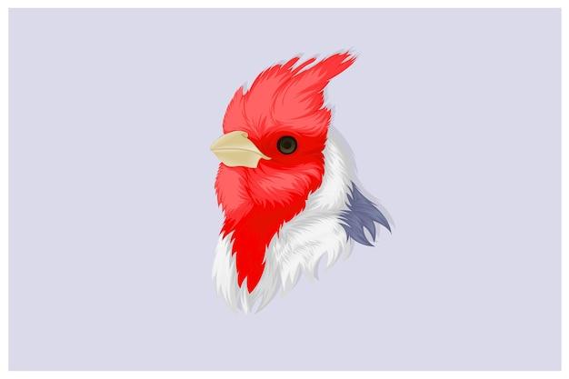 Ilustração do pássaro cardeal em estilo realista