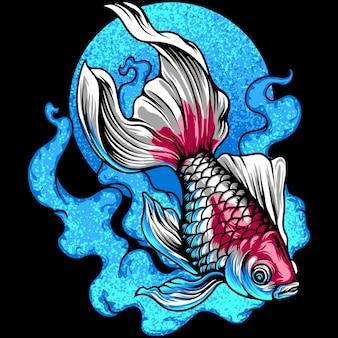 Ilustração do peixe dourado