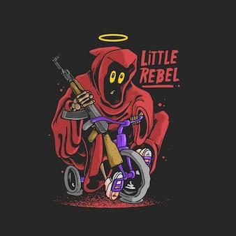 Ilustração do pequeno ceifador rebelde