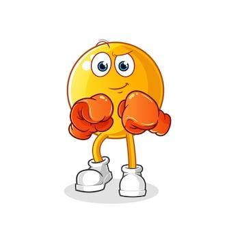 Ilustração do personagem boxeador emoticon