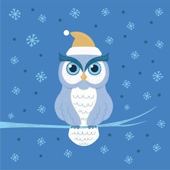 Ilustração do personagem da coruja do natal