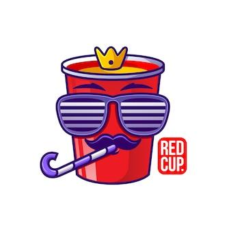 Ilustração do personagem do copo vermelho