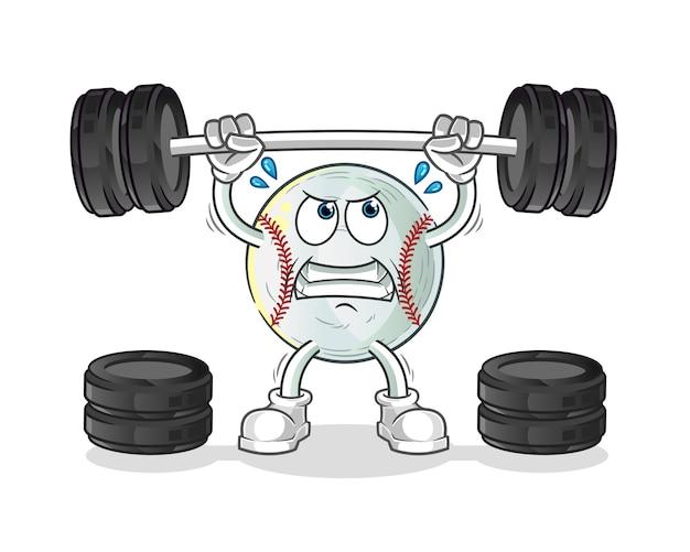 Ilustração do personagem levantando a barra de beisebol