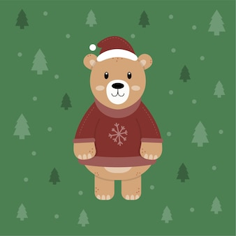 Ilustração do personagem urso natal