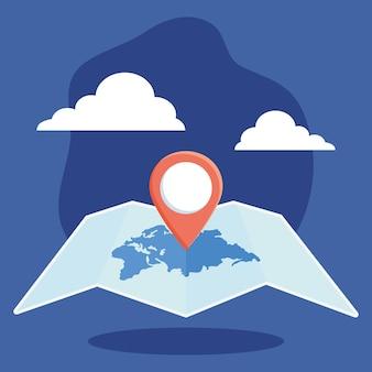 Ilustração do pino de localização