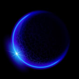 Ilustração do planeta azul