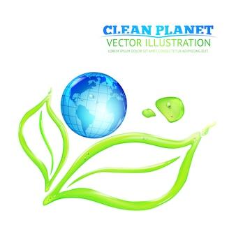 Ilustração do planeta limpo