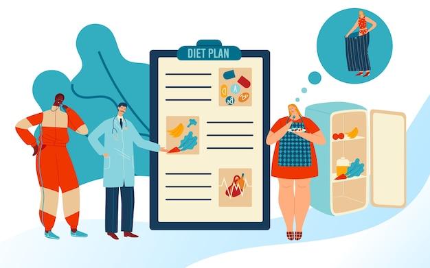 Ilustração do plano de dieta.