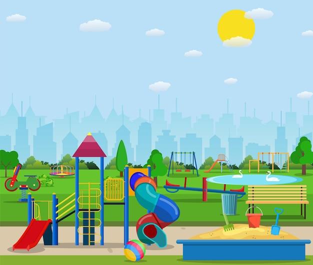 Ilustração do playground infantil