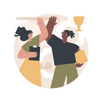 Ilustração do poder do trabalho em equipe