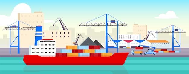 Ilustração do porto marítimo