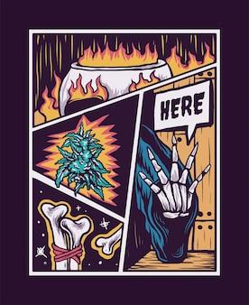 Ilustração do pôster de terror