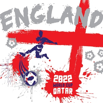 Ilustração do pôster do futebol da inglaterra para o projeto do catar na copa do mundo de 2022
