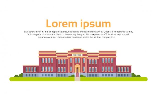 Ilustração do prédio da escola. conceito de educação