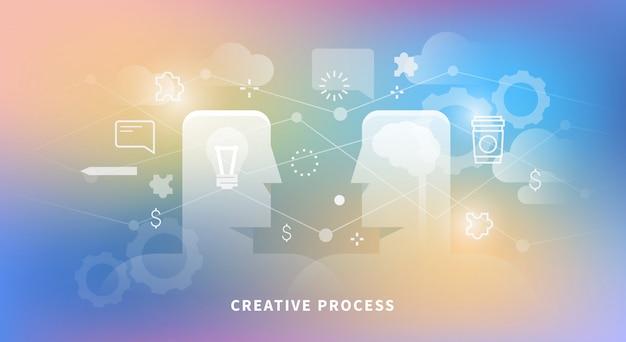 Ilustração do processo criativo