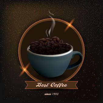 Ilustração do produto do café