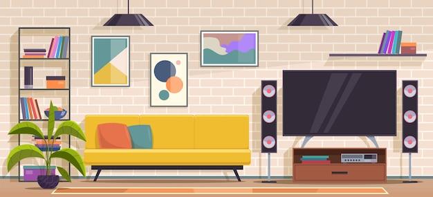 Ilustração do projeto da sala de estar