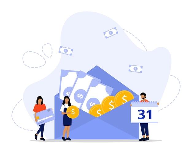 Ilustração do projeto de conceito de pagamento de salário