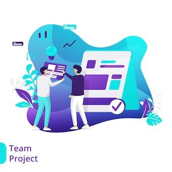Ilustração do projeto de equipe
