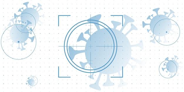 Ilustração do projeto do alvo covid 19 do coronavírus