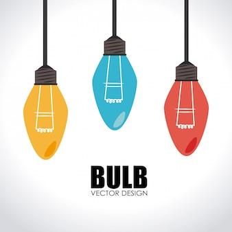 Ilustração do projeto do bulbo